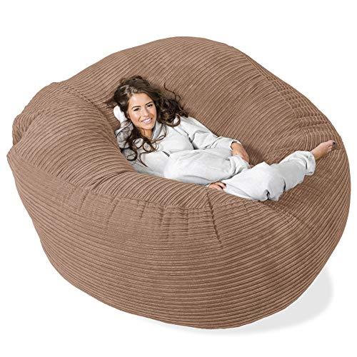 Lounge Pug®, \'Mega-Mammoth\' Sofa Sitzsack XXL, Schlafsofa, Cord Sand