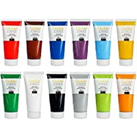 Creative Deco Acrylic Paint Set Large | 12 JUMBO 100ml tubes | Perfect for Beginners, Children, Students & Professional Artists | Perfect for Wood, Canvas, Fabric and Paper