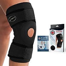 Von Ärzten Entwickelte Premium Kniebandage mit Kupferfasern [Einzeln] und von Ärzten verfasstes Handbuch – Garantierte Linderung & Stütze für Knieverletzungen und sonstige Kniebeschwerden