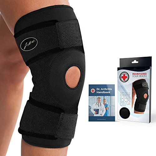 Doctor Developed Premium Copper Lined Knee Support Brace AND DOCTOR WRITTEN HANDBOOK —GUARANTEED RELIEF & SUPPORT for Knee Injuries and Other Knee Conditions