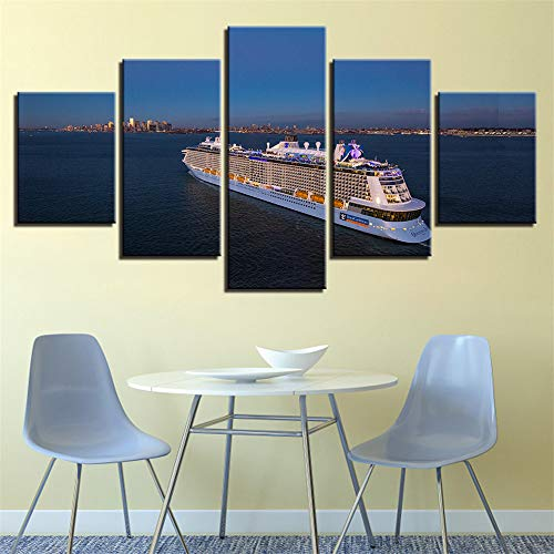 Comecong Dekorative Malerei,Einfache Multi-Wand-Malerei Inkjet Strand Rock Sea View Room Home kreative Handwerk Malerei Malerei 3 Malerei Kern 20x35cmx2 20x45cmx2 20x55cmx1 (Und Weiß Halloween-gesicht-malerei Schwarz)