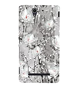 Floral Pattern Back Case Cover for Sony Xperia C3 Dual D2502::Sony Xperia C3 D2533