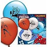 8 Luftballons * ULTIMATE SPIDER-MAN * für den Kindergeburtstag oder Party // mit 75cm Umfang // Luftballon Ballons Deko Motto Kinderparty Marvel Spiderman
