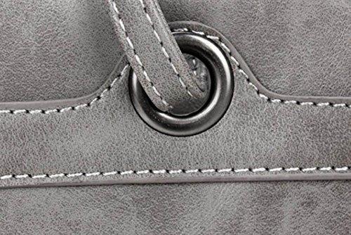 FZHLY Le Nuove Signore Adattano La Borsa Coreana Semplice Pure Bag Colore,Grey Red
