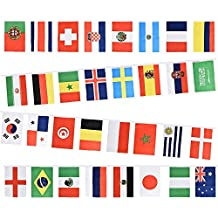 World Cup Bunting - FIFA Football World Cup 2018 fabric bunting 9m with 32 flags