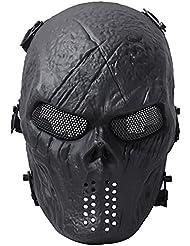 fantasma calavera Airsoft Paintball máscara completa protección Militar disfraz de Halloween mujer hombre
