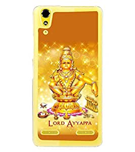 Fuson Premium Lord Ayyappa Metal Printed with Hard Plastic Back Case Cover for Lenovo A6000