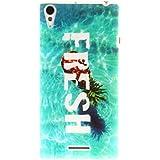 case cover para Sony Xperia T3 M50W D5102,Crisant Mar y piña Diseño Protección suave TPU Gel silicona Teléfono Celular Back funda Carcasa para Sony Xperia T3 M50W D5102