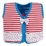 Konfidence Die Original Unisex-Kinder Schwimmweste, Mehrfarbig (Marthas Red Stripe & Frills), 6-7 Jahre