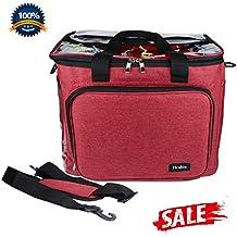 Para tejer hilo bolsa para almacenamiento, Hoshin portátil ganchillo bolsa organizador de hilo para ganchillo
