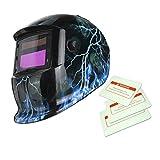 Máscara de Mate Solar Oscurecimiento Automático de Soldadura Por Arco TIG Casco de Soldador Mig - 8
