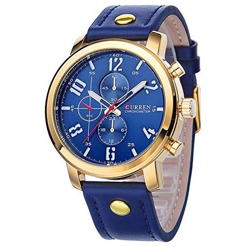 SoYoun Armbanduhren für Herren Quarz Uhren Kunstlederband Spirale Krone Mode Legierung Fall schwarz Shell Kaffee lila Oberfläche -