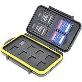 JJC Multi Memory Card Case MC-SDMSD12 Speicherkarten Schutzbox für 4 Stück SD Cards und 8 Stück MicroSD Karten- extreme Wasserdicht und Stoßfest Box Safe Tasche Etui Aufbewahrungsbox Hülle
