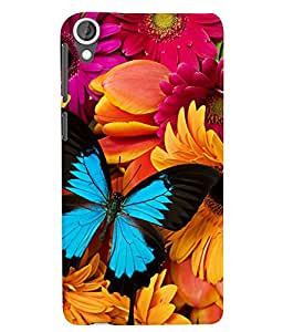 Citydreamz Butterflies\Flowers Hard Polycarbonate Designer Back Case Cover For HTC Desire 628