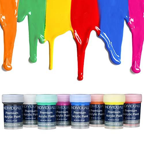 ben Set - Farbset inkl. 8 Farben je 20 ml zum Malen für Anfänger, Kinder & Künstler - ideal für Holz, Leinwand, Stoff uvm. - Malfarben auf Wasserbasis - Made in Germany ()