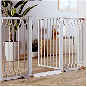MOM Pet Playpens Door,Extra Wide Child Pet Safety Gate with Door,Dual Lock Pressure Mount for Stairway Folding Guardrail,Self Closing Pet Fence Dog Play Yard Doorways Can Not Push Stairs Guardrail Ga   6