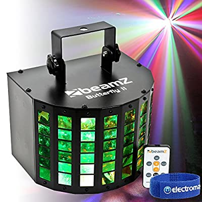 Mini LED Derby Effect Mobile DJ Disco Light 6x3w 288 Beams|Beamz Butterfly II