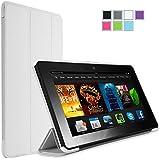 "iHarbort® Amazon Kindle Fire HD 6 Hülle, ultra-dünne leichte Leder Pouch Case Skin Cover für den Amazon Kindle Fire HD 6 Case Cover 6 Zoll, mit Auto-Sleep/Wake-Up-Funktion (Kindle Fire HD 6"", Weiß)"
