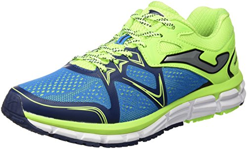 JOMA R.SUPER CROSS 605 ROYAL-LIMON FLUOR - Zapatillas para correr para