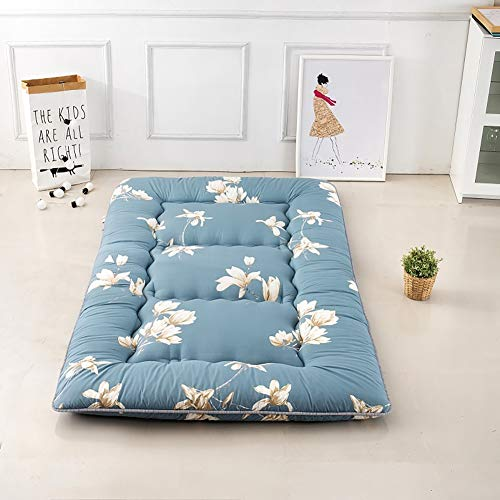 *LYBFNN Japanisches Tatami Boden Matte,verdickte Japanischen Futon Matratzenauflage Schlafen Pad Faltbare Dicken Zusammenklappbar Portable,A,120x200cm*