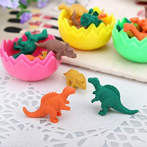 Pandady Dinosaurier Ei Radiergummi, Kindergartenkinder Kleine Geschenke Kreative Kleinwaren Radiergummi Bunt Dinosaurier