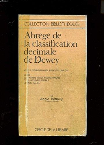 Abrégé de la classification décimale de Dewey par Melvil Dewey