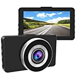 Gtopin Dashcam, Full HD 1080P Autokamera 3 Zoll Bildschirm Super Nachtsicht Auto Kamera Dash Camera,Video Recorder,170 Grad Weitwinkel Linse,Parkplatz-Monitor,Loop-Aufnahme,G-Sensor