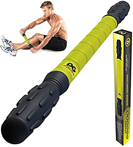 Muscle Roller Stick Pro, Best Sports Massage Tool for Sore Muscles, Releasing Cramps, Back Tightness, (Mini Roller Kit)
