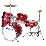 Dimavery 059143 JDS-305 Set de Tambour pour Enfant Rouge