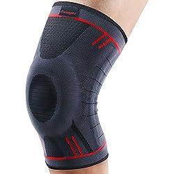 Kuangmi Knie Sleeve Unterstutzung Kompression Klammer Anti Slip Schmerzlinderung fur Sport Arthritis Patella Gelenkverletzung Recovery 1 stuck