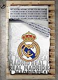 Style Real Madrid Juego Nórdico, Algodón-Poliéster, Blanco, 220x180x3 cm