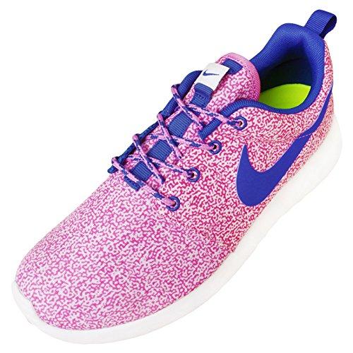 Nike - Roshe Run Print, scarpe da ginnastica da donna Summit white/Hyper cobalt-Light Magenta-Volt