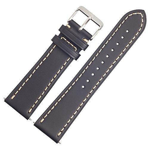 Victorinox Uhrenarmband 23mm Leder Schwarz - Uhrband 003497