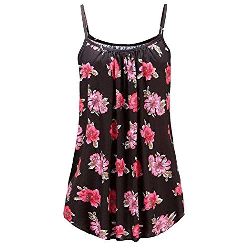 T-shirt-handle-taschen (iHENGH Damen Sommer Gedruckt Ärmellose Weste Sling Bluse Tank Tops Camis Kleidung(XXXXXX-Large,Mehrfarbig))