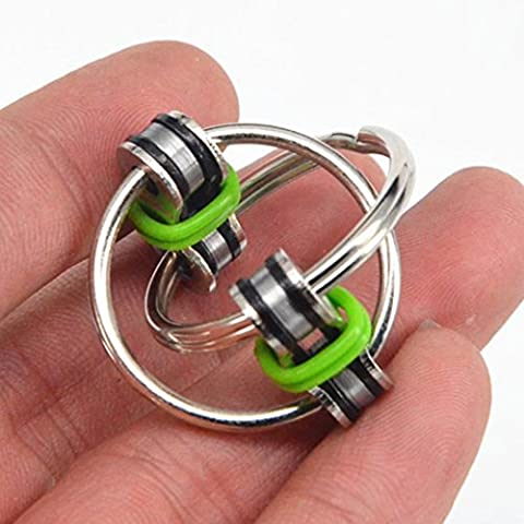 Transer Stress Reliever Toys- Chain Fidget Toy Key Ring Sensory Toys Stress Relieve ADHD Top ZZY (Green