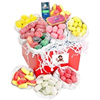 Blind Pews Sugar Free Traditional Retro Sweet Hamper - Beautiful Hand Packed Red Gift Hamper With White Satin Ribbon And An Embossed Pirate Gift Tag