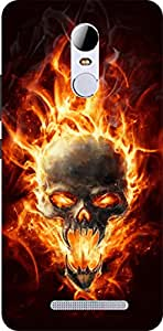 Dot Print Fire Devil Printed Back Cover For Xiaomi Redmi Note 3