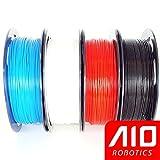 AIO Robotics Universelles Premium Filament Bundle, PLA, Beliebte Pantone Farben (Multi-Pack mit 4x 0.5kg Spulen), Blau, Weiss, Rot, Schwarz