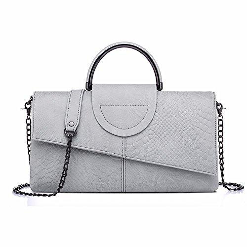 le donne sono clutch bag, grandi capacità spalla borsa, new wild borsa,bianco e nero, colori grigio e bianco