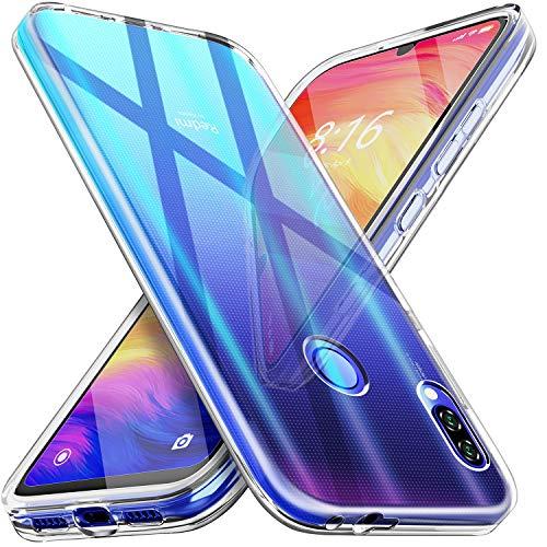 Blukar Funda Xiaomi Redmi Note 7/7 Pro, Carcasa Transparente Silicona Anti-Arañazos Antideslizante Absorción de Choque con TPU Suave para Xiaomi Redmi Note 7/7 Pro