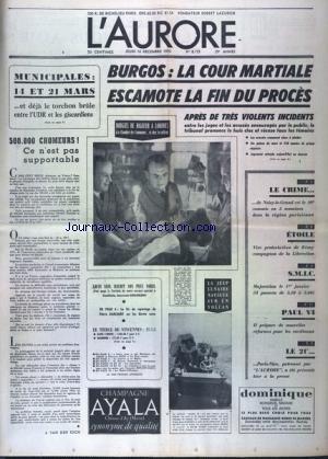 AURORE (L') [No 8173] du 10/12/1970