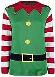 Ugly Christmas Sweater Christmas Elf Weihnachtspullover grün S