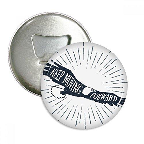 DIYthinker Das alte Ägypten Adler Dekorative Muster rund Flaschenöffner Kühlschrank Magnet Pins Abzeichen-Knopf-Geschenk 3pcs Silber -