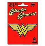 Logoshirt Wonder Woman Logo Aufnäher - DC Comics Patch - Superheldin Aufbügler - Lizenziertes Originaldesign