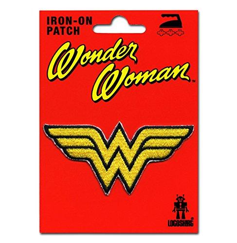 Logoshirt Wonder Woman Logo Aufnäher - DC Comics Patch - Superheldin Aufbügler - Lizenziertes ()