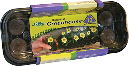 12 Pellet Windowsill Greenhouse Seed Starter Kit-12PEL WNDWSLL GREENHOUSE Starter Seed Kit