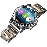 Smartwatch Elegante salud gestión ejercicio pulso relojes reloj Bluetooth circular acero T2/S2 los hombres , silver