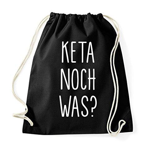 TRVPPY Turnbeutel mit Spruch / Modell Keta noch was? / Beutel Rucksack Jutebeutel Sportbeutel Fashion Hipster