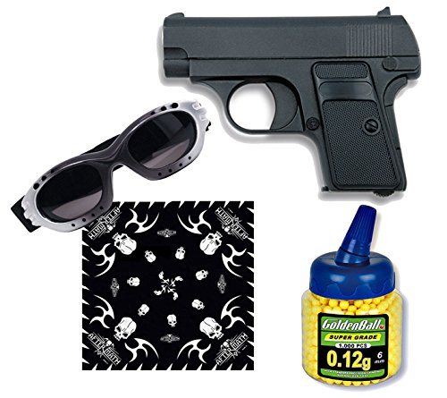 PISTOLA AIRSOFT MINI G1 COLOR NEGRO  METALICA  CALIBRE 6MM  POTENCIA 0 5 JULIOS