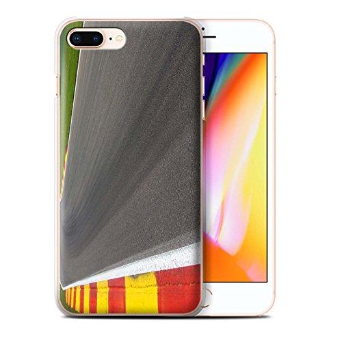 Stuff4 Hülle / Case für Apple iPhone 8 Plus / Asphalt/Tarmac Muster / Rennstrecke Foto Kollektion Asphalt/Tarmac